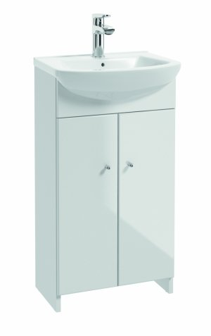 Szafka stojąca z umywalką TREND D40 biały połysk