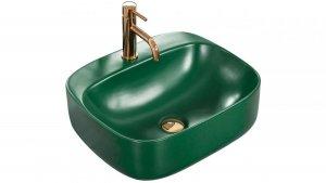 Umywalka ceramiczna nablatowa Luiza Green MAT 50x42 REA-U4560