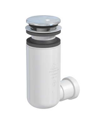 Syfon umywalkowy click-clack butelkowy Prevex Easy Clean czyszczony od góry