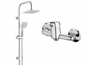 Zestaw prysznicowy Trend kwadratowy PG6 20KX + Bateria Lagos BKZ 040D