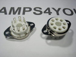 Podstawka GZC8-Y-3 8pin OCTAL do chassis ceramiczna