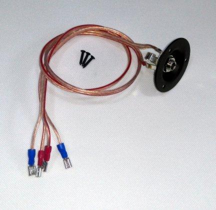 Przewód 2x głośnik - gniazdo jack + terminal RÓWNOLEGŁE