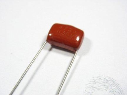 Kondensator foliowy metalizowany 4,7nF 630V 3szt.
