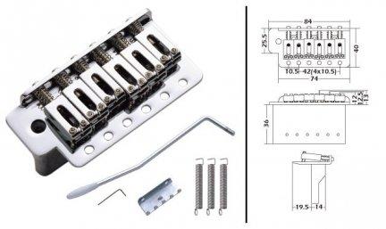 Mostek Tremolo Typ Strat SB001 CHR