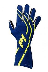Rękawice P1 Advanced Racewear GRIP2 niebieskie (FIA)