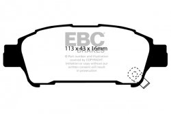 Klocki hamulcowe EBC Greenstuff tył TOYOTA Avensis Verso 2.0 TD 2001-2006