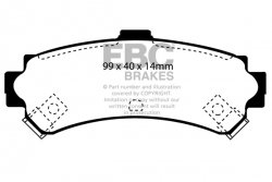 Klocki hamulcowe EBC Greenstuff tył NISSAN Almera 2.0 D (ABS) 95-98