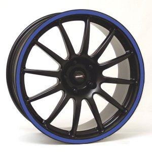 Felga Team Dynamics PRO RACE 1.2S 7x16 czarny z niebieskim
