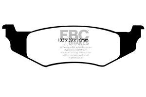 Klocki hamulcowe EBC Greenstuff tył CHRYSLER (USA) Neon 2.0 (4 Stud) 96-98