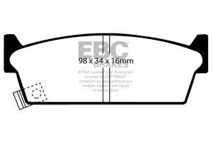 Klocki hamulcowe EBC Greenstuff tył NISSAN Skyline (R31) 2 85-89