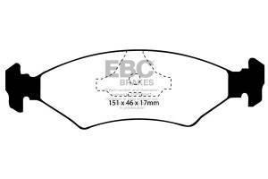 Klocki hamulcowe EBC Bluestuff przód FORD Fiesta (Mk3) 1.8 XR2 92-95
