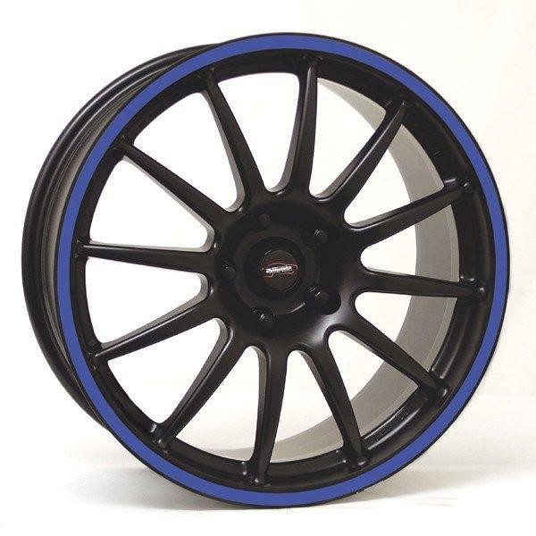 Felga Team Dynamics PRO RACE 1.2S 9x18 czarny z niebieskim