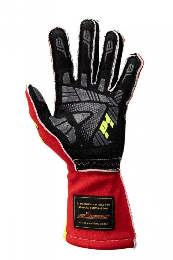 Rękawice P1 Advanced Racewear GRIP2 czerwone (FIA)