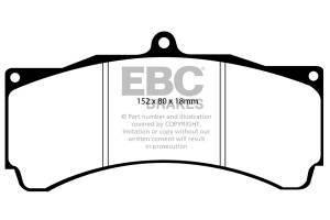 Klocki hamulcowe EBC Bluestuff przód SUBARU Impreza 2.5 Turbo Cosworth 2010-2012