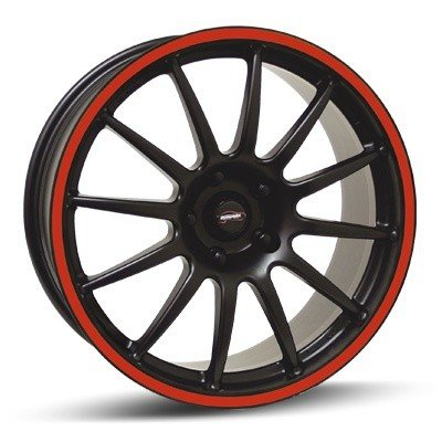 Felga Team Dynamics PRO RACE 1.2S 9x17 czarny z czerwonym