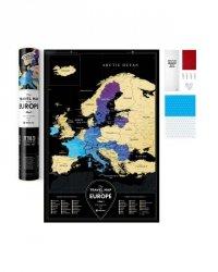 MAPA ZDRAPKA TRAVEL MAP BLACK EUROPE