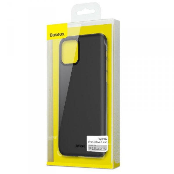 Baseus Wing Case ultracienkie etui pokrowiec iPhone 11 Pro czarny (WIAPIPH58S-A01)