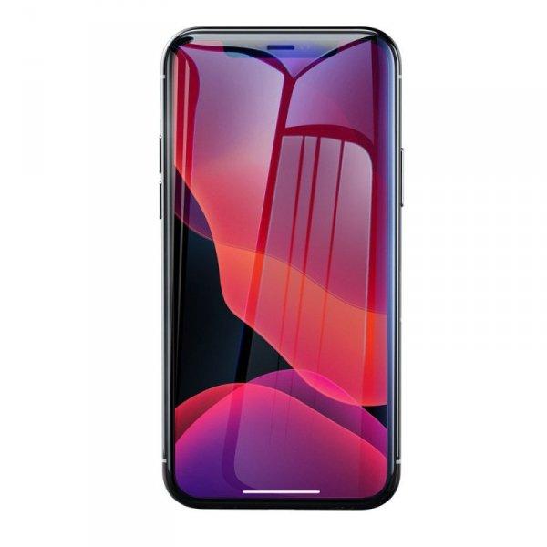 Baseus szkło hartowane 0.3mm 9H Anti-bluelight iPhone 11 Pro Max / iPhone XS Max + pozycjoner (SGAPIPH65-LF02)
