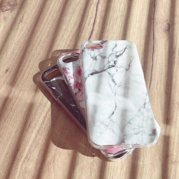 Wozinsky Marble żelowe etui pokrowiec marmur Xiaomi Redmi Note 7 czarny