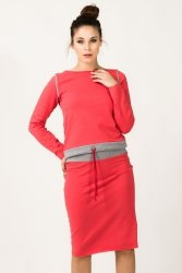 Bluza Damska Model Milena 8 Coral/Light Grey