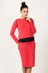 Bluza Damska Model Milena 4 Coral/Dark Grey