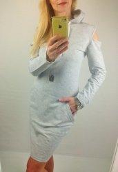 Bawełniana Sportowa Sukienka Grey
