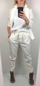 Białe Eleganckie Spodnie Wiązanie