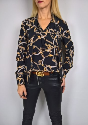 Elegancka Koszula Wiązanie Wzór