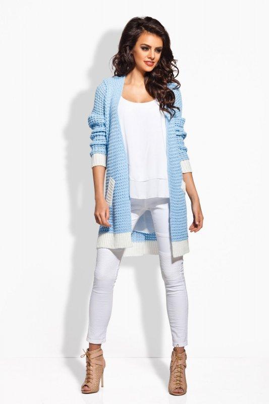 Sweter Damski Model LS163 Sky Blue/Ecru