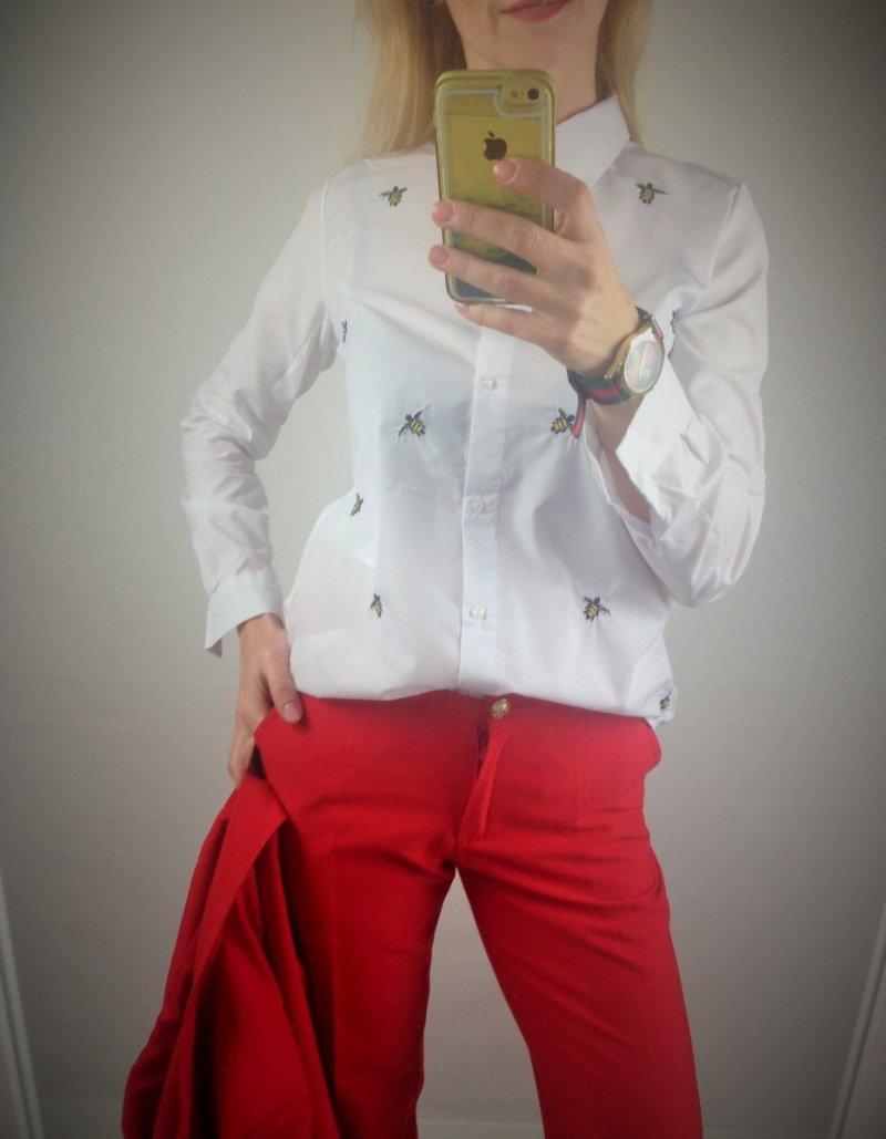 Elegancka Biała Koszula Bee