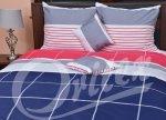 Pościel Satynowa Premium 200x220 cm Kolorowa w Kratkę Oritex wz 305-2