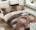 Pościel Mengtianzi Beżowa - Brązowa w Liście 160x200 100% bawełna B-776