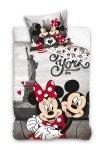 Pościel młodzieżowa Myszka Mickey i Minnie Nowy York 140x200 cm 100% bawełna