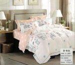 Pościel Mengtianzi Kremowy - Różowa w Kwiaty 200x220 100% bawełna B-846