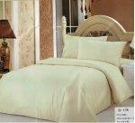 Jednobarwna pościel Mengtianzi 160x200 Ecru 100% bawełna B-178