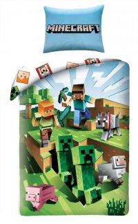 Pościel Minecraft 160x200 Alex, Stiff, Creeper. Pościel dla dzieci Minecraft kolorowa.