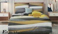 Bawełniana pościel Elway 160x200 Kolorowa w Pasy wz 4809