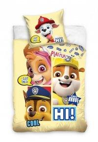 Pościel Psi Patrol dla dzieci 100x135 + poszewka 40x60 cm Carbotex 100% bawełna PAW 201029