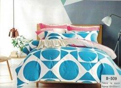 Pościel Mengtianzi Biała - Niebieska - Różowa 160x200 100% bawełna B-509