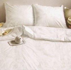 Ekskluzywna pościel satynowa Andropol 200x220 Biała gładka 100% bawełna wz. 17 489/2 . Pościel Biała satynowa 200x220