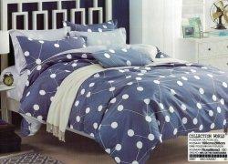 Pościel Collection World 160x200 Granatowa - Niebieska 100% bawełna wz 987