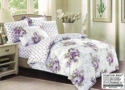 Pościel Collection World 200x220 Biała w Kwiaty 100% bawełna wz 847