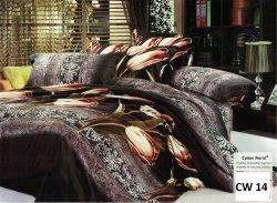 Pościel 3D Kwiaty 160x200 Cotton World 100% bawełna wz. CW 14