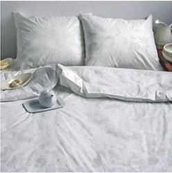 Ekskluzywna pościel satynowa Andropol 160x200 cm 100% bawełna wz. 17489/4 . Biała pościel 160x200