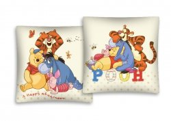 Poszewka bawełniana dla dzieci Disney Kubuś Puchatek 40x40 Detexpol 100% bawełna  Miś