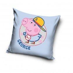 Poszewka dla dzieci Świnka Peppa George 40x40 cm Carbotex 100% bawełna
