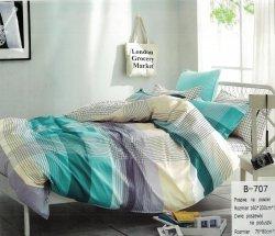 Pościel Mengtianzi Kolorowa w Kratkę 160x200 100% bawełna B-707