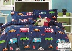 Pościel Collection World 160x200 dla dzieci - Granatowa z Samochodami - 100% bawełna wz 995