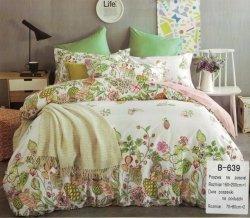 Pościel Mengtianzi Biała - Różowa w Kwiaty 160x200 100% bawełna B-639