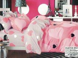 Pościel Collection World 160x200 Różowa w Serduskza 100% bawełna. Różowa pościel 160x200 w Serca wz 939
